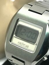 Vintage Otron LED Watch Digital Korea Made W/ Original Box FOR REPAIR  PARTS