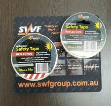 Reflective Tape 50mm X 10m Red/White  X 2 Rolls