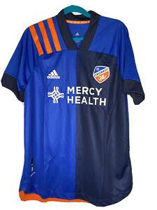 Adidas FC Cincinnati Mens Large Soccer Jersey New NWT Blue Retail $130