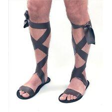 Black Adults Roman Sandals - Brown Greek God Fancy Dress Costume New