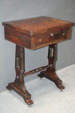 Antique Brazilian rosewood Regency fold over games table original 1820 bedside
