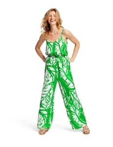 NEW! Lilly Pulitzer Target •Women XS• Boom Boom Jumpsuit Romper Green White