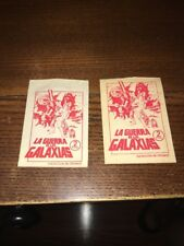 (2) RARE 1977 STAR WARS LA GUERRA de las GALAXIAS EMPTY CARD PACKS / SPAIN