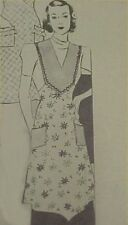 Vintage Bib Apron Full Size Sewing Fabric Pattern 1930s Flapper Bodice Detail
