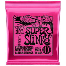 🔥 ERNIE BALL 2223 Electric GUITAR STRINGS Nickel Super Slinky 9-42 Gauge NEW