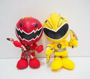 "Bakuryuu Sentai Abaranger Set Red & Yellow 8"" Plush 2003 *USED Doll Japan Power"