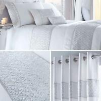White Duvet Covers Sequin Diamante Satin Sparkle Bling Quilt Cover Bedding Sets