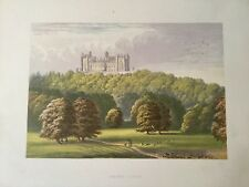 c1870 -  Belvoir Castle  - Coloured Lithograph
