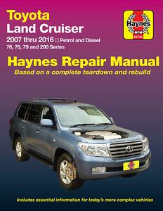 Haynes Toyota Landcruiser 200 Series & VDJ 76/77/78 Ute P & Diesel 2007-2016