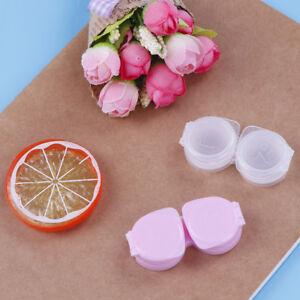1Pc lens box mini plastic soaking portable travel contact storage case holdS_cd