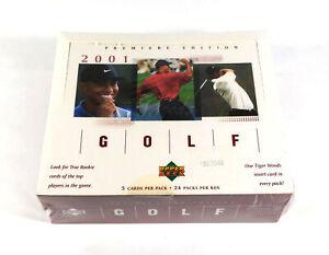 2001 Upper Deck Golf Retail Box Sealed (24 Packs) 1 Tiger Woods Insert Per Pack