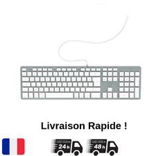 Clavier Français AZERTY Filaire PC Ordinateur Apple Mac Macbook iMac Mobility FR