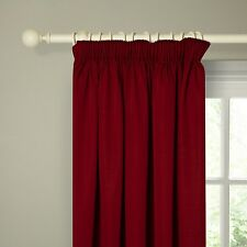 """John Lewis POLYCOTTON RIB Lined CURTAINS Red 183 x 228 cm 90"""" x 90"""" NEW"""