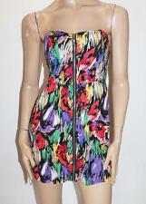 TEMT Brand Multi Floral Zip Front Strapless Dress Size 8-XS BNWT #SZ58
