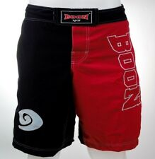 Boon Sports Mma Shorts Black Red S,M,L,Xl,Xxl Muay Thai Mma Free Shipping