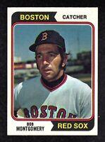 1974 Topps #301 Bob Montgomery Boston Red Sox Baseball Card EX/MT+
