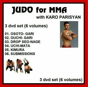 Judo For Mixed Martial Arts With KARO PARISYAN 3 Dvd set BJJ MMA sambo jiu jitsu