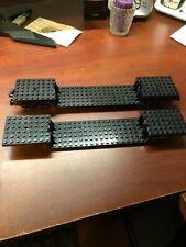 2 Lego Minifig ~ black Train Base/Frame Custom Engine Car Stepped Carriage