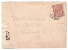 1918 Censored cover Great Britain to Usa with censor label