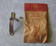Vtg door pull Red Lines Deco cabinet handle cupboard Hoosier NOS