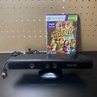 Microsoft Xbox 360 Kinect Motion Sensor Bar Black & Kinect Adventures Bundle