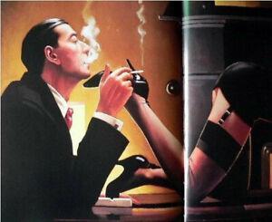 Men who smoke tease of women Oil Painting Handpainted Canvas Modern Wall Pop Art
