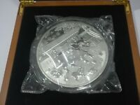 金猪纳福 Chinese Lunar Calendar Pig 2019 1 kg kilo Silver Plated Coin Round Medal