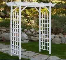 Garden Arbor White Arch Vinyl Pergola Wedding Backyard Trellis Decor Walkway