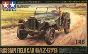 Tamiya 32542 1/48 Scale Military Model Kit Russian Jeep Field Car GAZ-67B