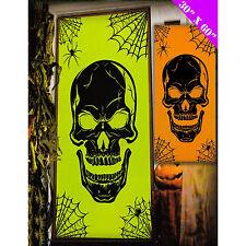 Halloween Neon Skull Party Door Hanging Decoration (Green & Orange)