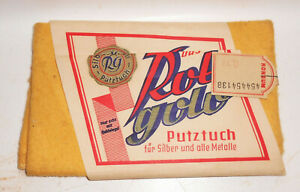 Rotgold Cleaning Cloth For Silver And All Metals Boxed Konsum Advertisement GDR