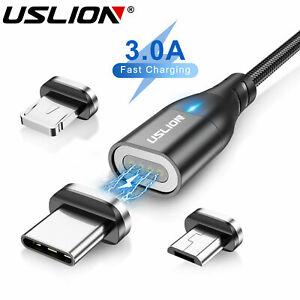 3A Magnetische LED Kabel Typ C Micro USB Schnell Ladekabel Für Samsung Huawei