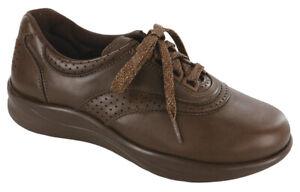 SAS Walk Easy Coffee Brown 11 Wide, Women's Walking Shoes