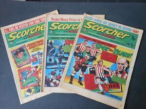 THREE 1973 Vintage SCORCHER and SCORE Comics 8th/ 15th/ 29th Dec Christmas