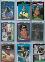 Jose Canseco A's Lot of (30) Different w/ (18) Rookies 1986 Donruss #39 NMint