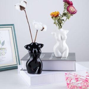Art Nude Female Body Vase Ceramic Tabletop Flower Pot Modern Home Design Decors