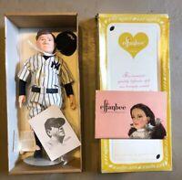 "Vintage 1985 Effanbee Babe Ruth New York Yankees 16"" Doll #7651 USA Baseball"