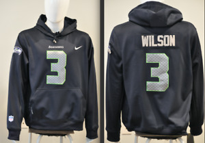 Russel Wilson Seattle Seahawks Jersey NFL Hooded Sweatshirt Embroidered Hoodie