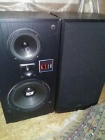 Brand New Retro DCM KX-10 Huge Stereo Loud Speakers Vintage NOS Clean As Can Be!