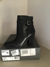 Vince Camuto Harriet Black Leather Ankle Boots Size 7.5 *NEW