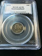 1870  Newfoundland, ¢10 Cent, PCGS Graded, **AU-50**