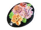 Bijou pâte fimo peinte fantaisie broche intemporelle médaillon fleur brooch