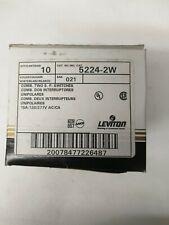 Leviton 5224-2W 15 Amp, 120/277 Volt, Duplex Style Single-Pole / Single-Pole Ac