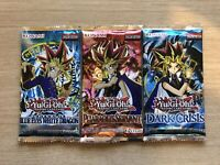 3 x YuGiOh Vintage Booster Packs - LOB, PSV, & DCR - Brand New & Sealed