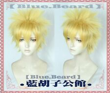Naruto Anime Uzumaki Naruto Short Golden Cosplay Costume Wig+track No.+wig cap