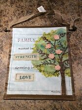 Family, Strength, And Love Vinyl Canvas Wall Hanging - Make An Offer!