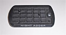 GI Joe Figure  Dog Tag  Display Stand / Base      2009  Night Adder