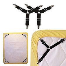 2X Triangle Suspender Holder Bed Mattress Sheet Straps Clips Grippers FastenerIJ
