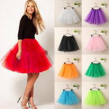 Women Girl Princess Ballet Tulle Tutu Skirt Wedding Prom Rockabilly Mini Dress