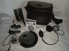 PHILIPS PORTABLE CD PLAYER AX5215/17 W/ CAR ADAPTER REMOTE CIG ADAPTER & HEADPHO